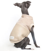 犬 ◆for Dog◆ WARM SUADE & LEATHER_BEIGE
