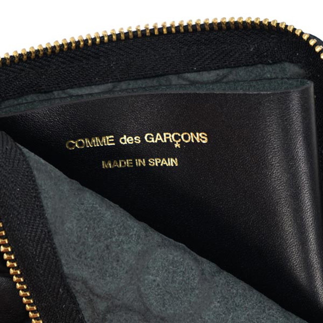 COMME des GARCONS L字ラウンドファスナー コインケース 黒