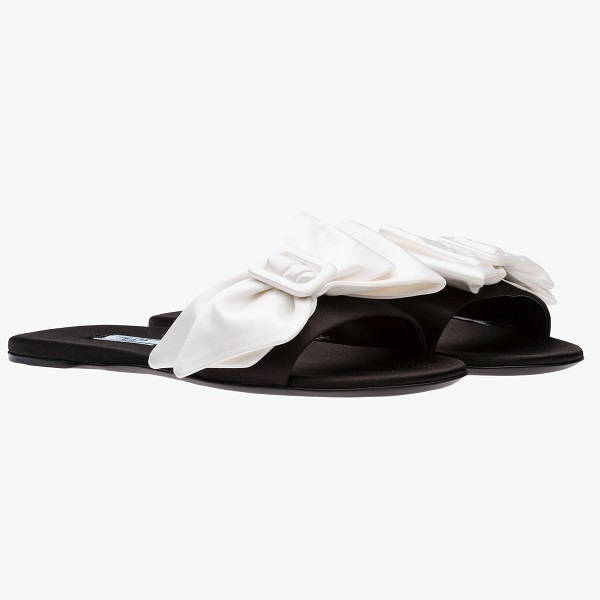 ☆16Fall☆ PRADA Satin slip-on sandal