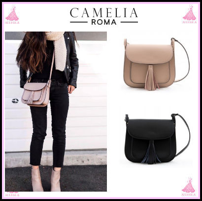 * ROMA CAMELIA * with a Tassel leather shoulder bag