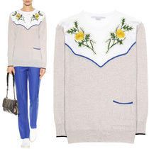 17SS SM338 FLORAL EMBELLISHED MULTICOLOR SWEATER