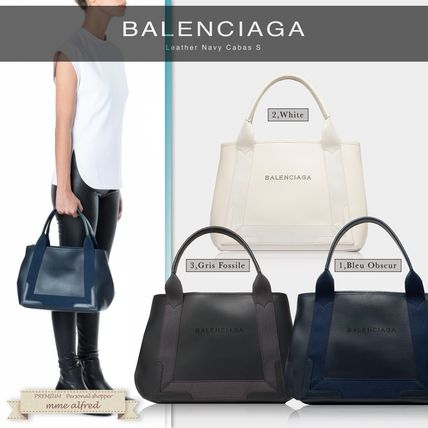 BALENCIAGA leather tote bag S cute