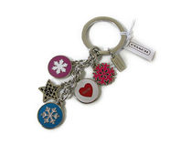 【返品可】COACH SNOWFLAKE MULTI MIX KEY FOB F62725