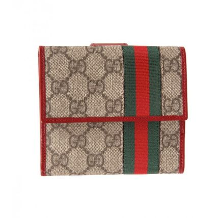 GUCCI☆GG WEB FRENCHフラップウォレット