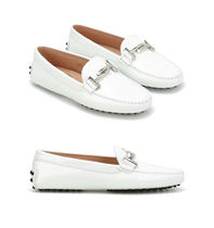 17SS TOD'S★Double-T White Patent Loafers  関税/送料込