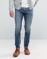 ASOS(エイソス) デニム・ジーパン 送料・関税込み Skinny Jeans In 12.5oz Mid Blue ジーンズ
