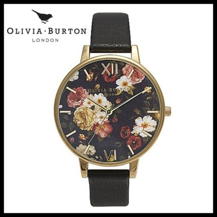 ☆Olivia Burton☆BIG DIAL Winter Garden ブラック/ゴールド
