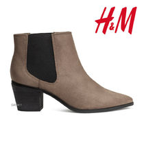 ●H&M●冬新作♪ブーツ♪Spitze Ankleboots♪ダークカーキ