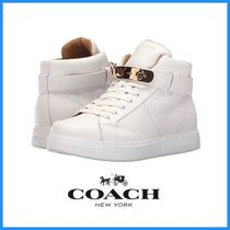 限定SALE★COACH Richmond Swagger Hi Top Wedge 白色★送料込