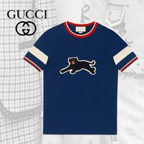 GUCCI Cotton T-shirt With Panther