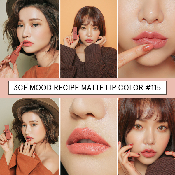 [NEW]3CE MOOD RECIPE MATTE LIP Color MINI KIT セット