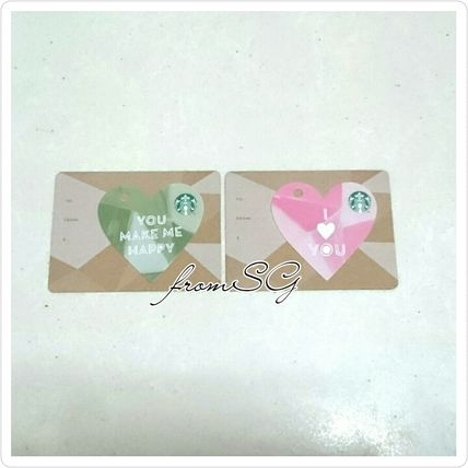 Heart-shaped Starbucks cards Singapore limited