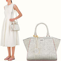 FE1318 MINI 3JOURS IN POLKA DOT PRINTED SNAKE LEATHER