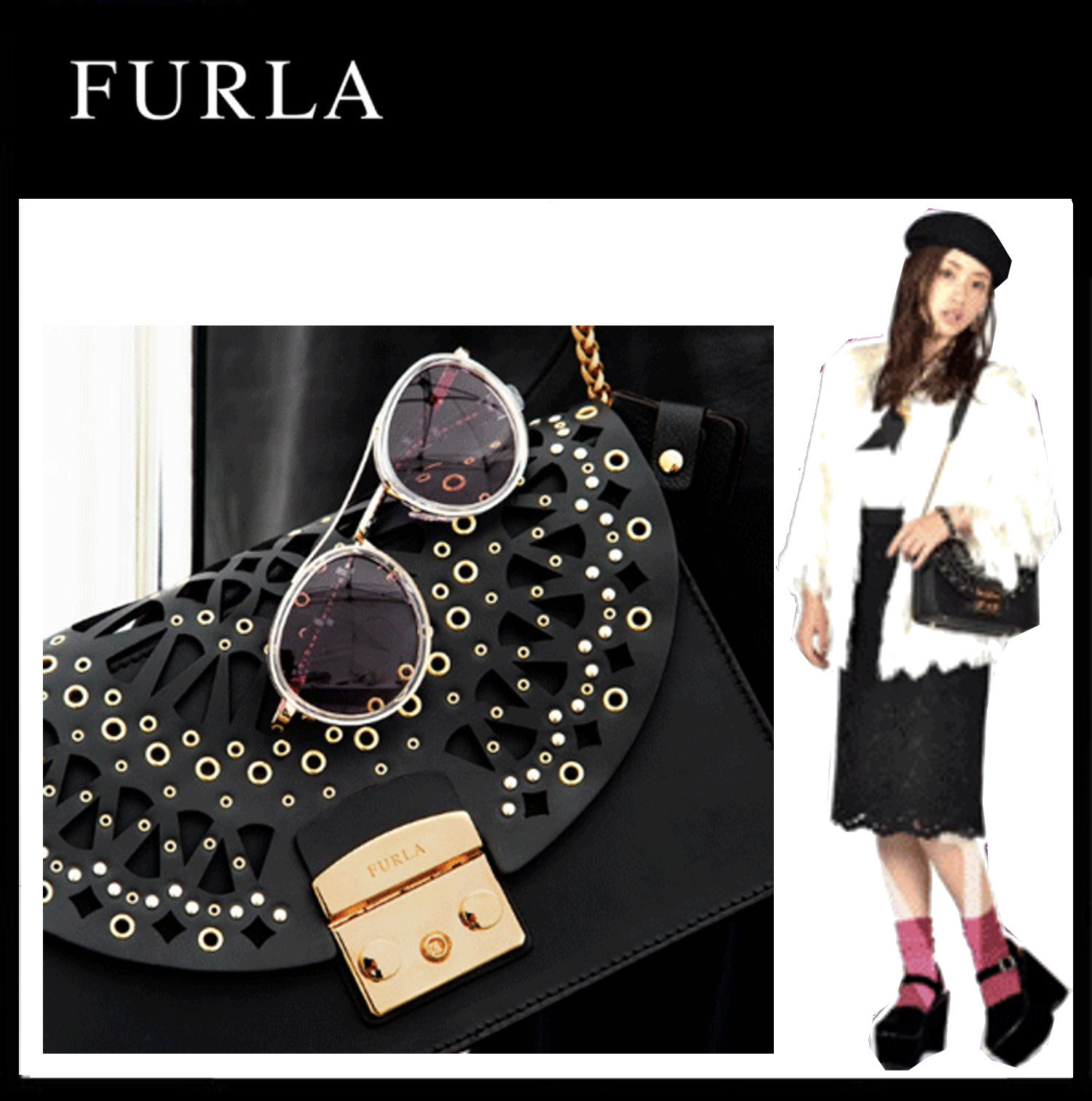 Furla★石原さとみ着用★Metropolis Small Bolero Shoulder Bag