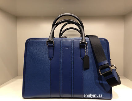 COACH new BOND BRIEF briefcase F55409 * Indigo/black