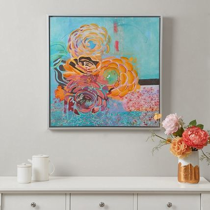 Madison Park Bohemian Posies Aqua frames with pictures skin
