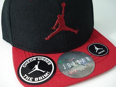 送料込み★キッズ★Jordan Jump Man Logo Brim Cap Black/Red