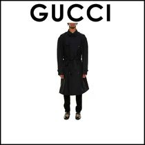 2017SS新作関税込,完売前に★GUCCI EMBROIDERED ON BACK TRENCH
