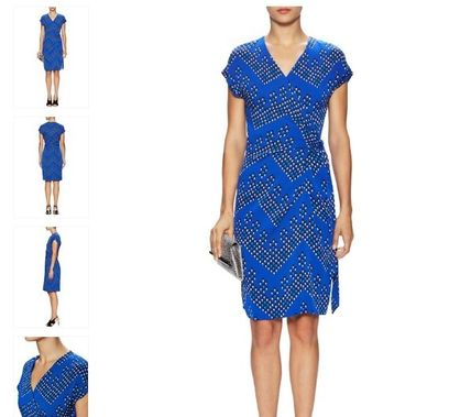 DVF:Sascha Silk Cap Sleeve Wrap Dress