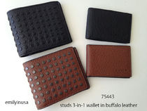 即発 COACH★メンズ STUDS 3-in-1 wallet in buffalo leather