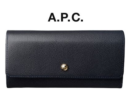 France issued A. P. C. Everest Dark Navy wallet long wallet