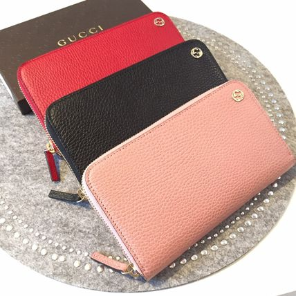 GUCCI logoround ZIP long wallet more than one color