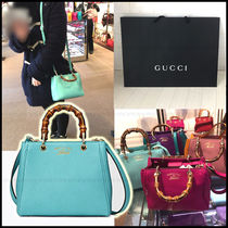 SALE!! 【国内発送】GUCCI★Bamboo Shoppere XS 選べる4色
