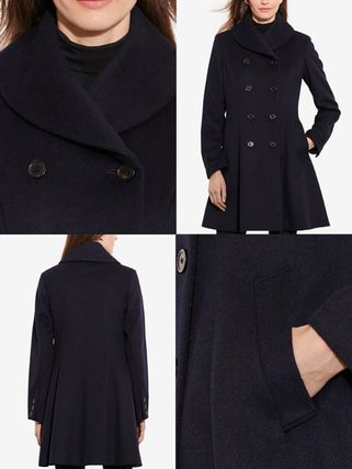 Ralph Lauren コート 関税送料込★ラルフ Double-Breasted Fit & Flare Wool Military(2)