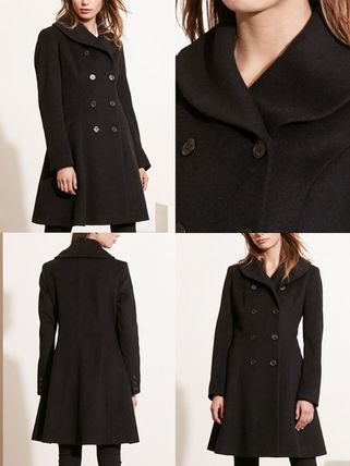 Ralph Lauren コート 関税送料込★ラルフ Double-Breasted Fit & Flare Wool Military(3)