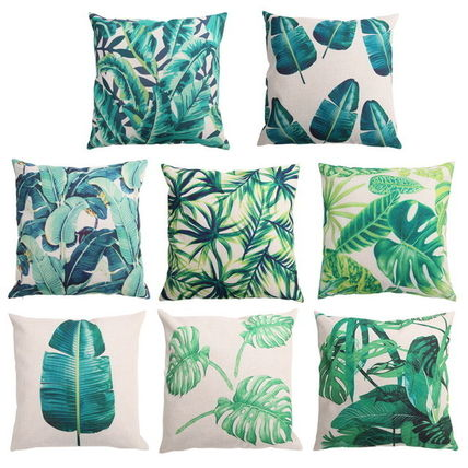 Hawaii featured banana leaf pattern nature of plant Cushion