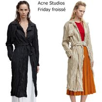 ACNE Friday Froisse wrinkled trench くしゅくしゅトレンチ 2色