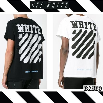 2017 SS OFF-WHITE DIAG SPRAY S/S TEE only