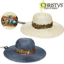 Christys'(クリスティーズ) ストローハット Christys' 手元に在庫有り★即発 JUTE FEATHER HAT
