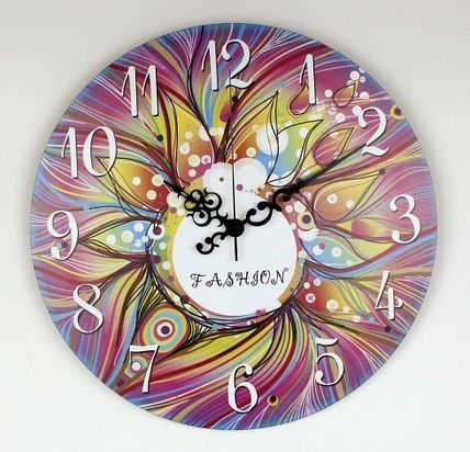 A fashionable designers walk rock wall clock 148