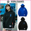 【Born Champs】正規品★LAYERD AND SLIT パーカー★2色/追跡付