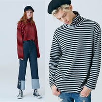 CLIF WEAR(クリフウェア) Tシャツ・カットソー ◇CLIF WEAR◇ TURTLE NECK STRIPE TEE ユニセックス 全2色