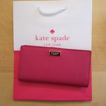 Kate Spade laurel way stacy セール♪カード用財布★ピンク