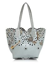 Marc Jacobs☆Wingman Laser Cut Embellished Leather Tote