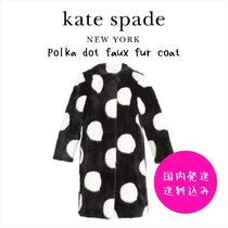 【国内発送】POLKA DOT FAUX FUR COATセール