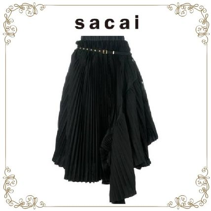 17th SS popular SACAI pleated asymmetric skirt