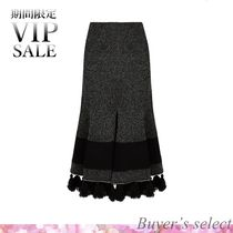 ★VIP SALE!!★Tasselled-hem flared skirt