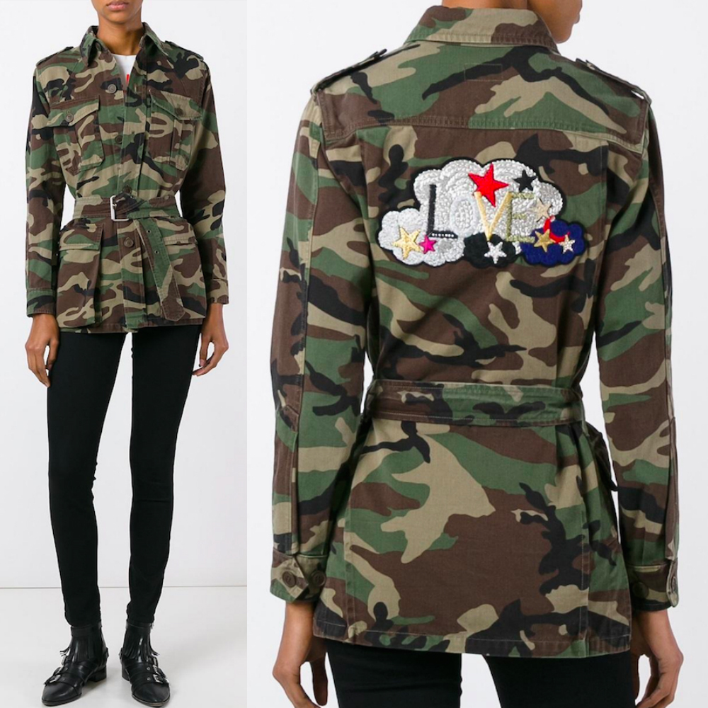 17SS WSL1028 'LOVE' EMBROIDERED ARMY JACKET