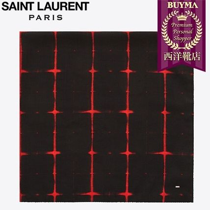 SAINT LAURENT 17SS┃SQUARE SCARF