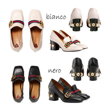 GUCCI leather Middle heel loafers 425943
