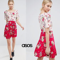 ★最短翌日発送★ASOS Mix And Match Floral Skater Dress