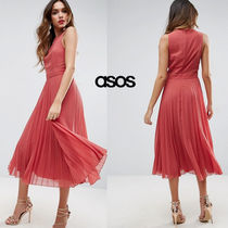 ★最短翌日発送★ASOS Side Detail Pleated Midi Dress