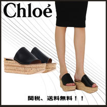 【マストアイテム】Chloe-leather and cork slide sandals