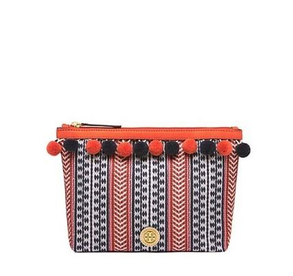 Tory Burch メイクポーチ Tory Burch POM-POM COSMETIC CASE
