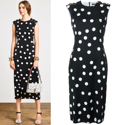 17th SS DG868 POLKA DOT PRINTED SLEEVELESS DRESS