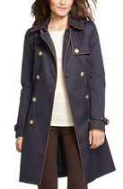 新作【Ralph Lauren】Faux Leather Trim Trench Coat